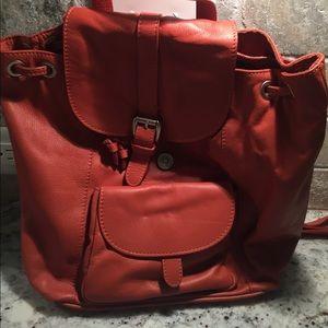 Garnet Hill Italian Leather Backpack