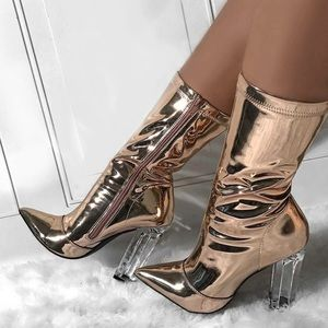 Shoes - Metallic Booties PRE-ORDER 😍