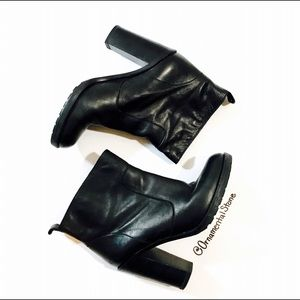 Opening Ceremony Shoes - MM6 OPENING CEREMONY LEATHER BOOTIES MAISON