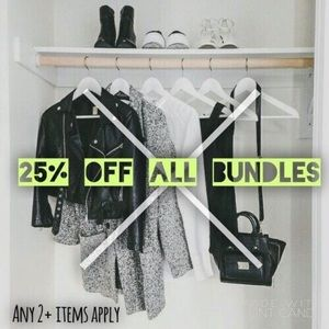 New Markdowns!! 25% off Bundles of 2 or more items