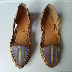 Boho Brazilian leather sandals