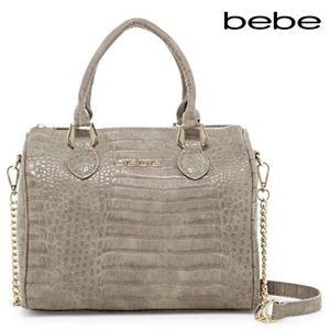 bebe Handbags - Bebe Tessa Speedy in Slate