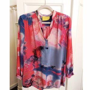Aaron Ashe Tops - Tie-Dye Silk Blouse