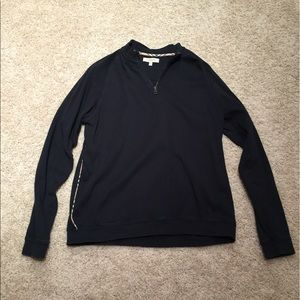 Men's Burberry 1/4 Zip Pullover Black XL
