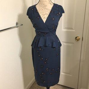 Dorothy Perkins Birds Dress US Size 8, UK 12