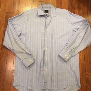 David Donahue Other - David Donahue, blue plaid dress shirt 16 34X35