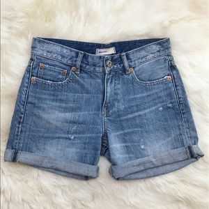 Uniqlo Pants - UNIQLO Distressed Cuffed Bermuda Denim Shorts