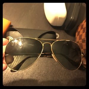 Rayban Sunglasses Aviators Gold
