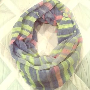 Simonetta Accessories - Neon infinity scarf - blue, green, pink
