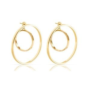 Jenny Bird Jewelry - Jenny Bird Gold Rise Hoops