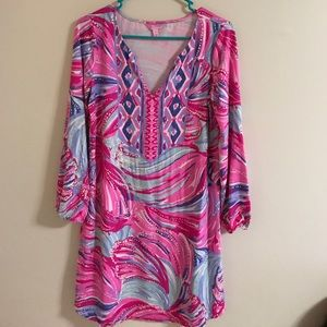 a0371e82094 Lilly Pulitzer Dresses - Lilly Pulitzer Gianna Tunic Dress - Oh My Guava