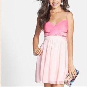 Hailey Logan Dresses & Skirts - New HAILEY LOGAN 11/12 Pink Dress NWT Mini Cut Out