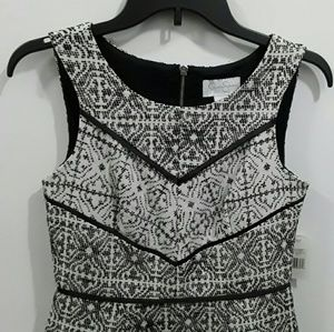 Jessica Simpson dress sleeveless fit-and-Flare