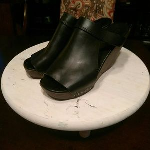 Rick Owens Shoes - FLASH SALE!!! Rick Owens- Leather/Wood Wedge
