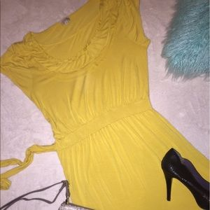 Daniel Cremieux Dresses & Skirts - Cremieux yellow buttery soft casual ruffle dress