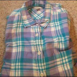 J. Crew Tops - J crew light flannel shirt