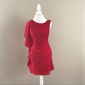Sugarlips Dresses & Skirts - Stunning Red One Shoulder Sugarlips Dress
