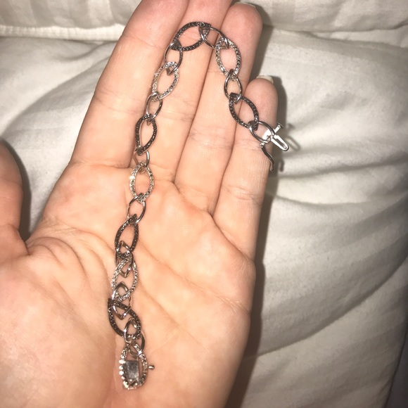 87 off Jared Jewelry Authentic Sterling silver diamond bracelet