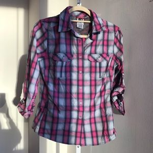 North face plaid top