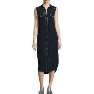 Amour Vert Dresses & Skirts - Amour Vert Silk Shirtdress