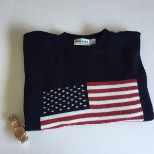 New Era Other - NEW ERA AMERICAN FLAG PULLOVER SWEATER