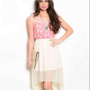 NIP pink & Ivory Hilo dress