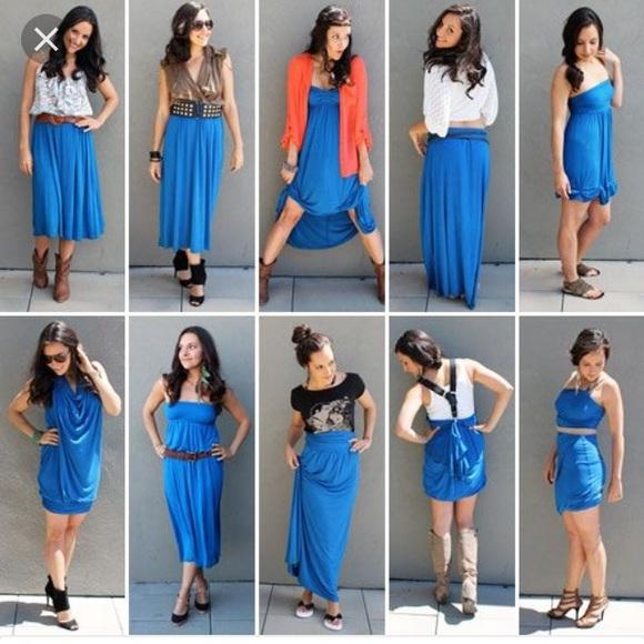 58e6e8030a1 LuLaRoe Dresses   Skirts - Lularoe Blue Foldover Maxi skirt wear 8 ways  small