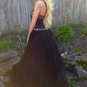 Maggie Soterro ball gown prom dress black