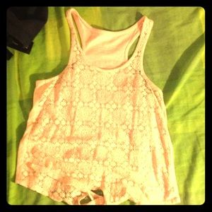 Tops - Pink top with laces in the front