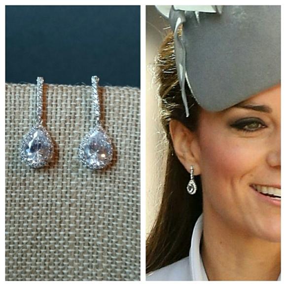 Jewelry | Kate Middleton Inspired Earrings Cz Dangle