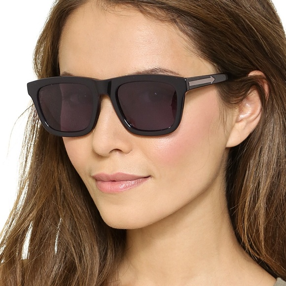 8660aec78f7 Karen Walker Deep Freeze Sunglasses with case. M 58f43b1e2de51262430361f7