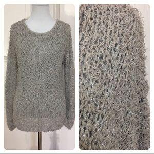 Vince gray metallic sweater