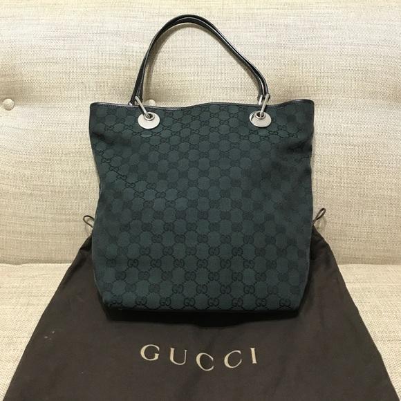 45a17add17c1 Gucci Handbags - ⬇ Authentic Gucci Monogram Canvas Eclipse Tote