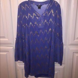 Dresses & Skirts - Never worn blue and silver boho dress