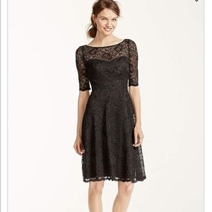 David's Bridal Dresses & Skirts - Black lace dress. Only worn once
