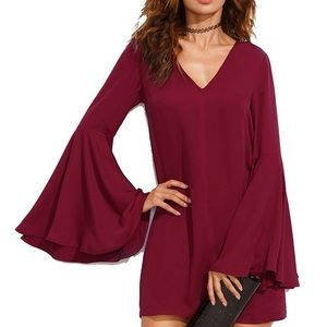Shein bell sleeves dress