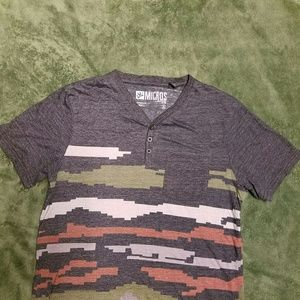 Micros Other - Men's Micros SS T-shirt 3 Button Neckline  S