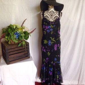 NWT Onyx Nites Flowing Hem Chiffon Dress