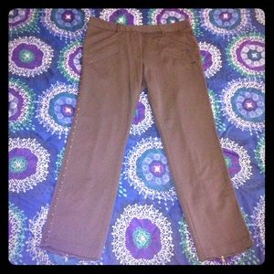 Anthro TRACY REESE Studded Ankle Zip Pants EUC 12