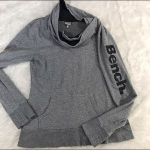 Bench Tops - Bench Cowl Neck Sweatshirt with Logo Spell Out