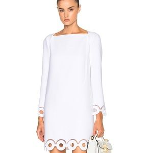 Carven Dresses & Skirts - Carven relief crepe dress white size 38