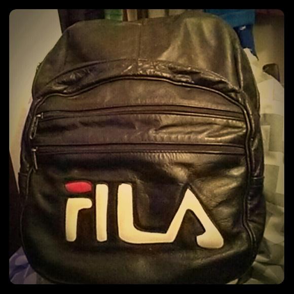 ae2d26982f8 Fila Bags | All Leather Backpack | Poshmark