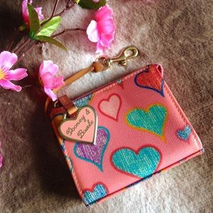Dooney & Bourke Handbags - Vintage Dooney & Bourke Pink Heart Wallet
