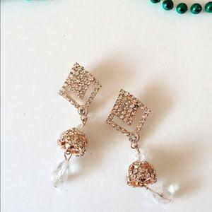 Jewelry - 25% off 💍 B11 Gold Tone Zircon Teardrop Earrings