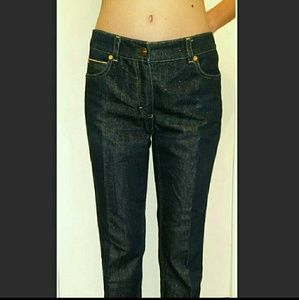 Escada Denim - Escada Runaway Sparkle Jeans Dark Gold Thread 2