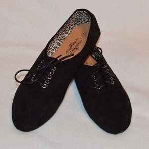 Shoes - black suede shoes, new in box