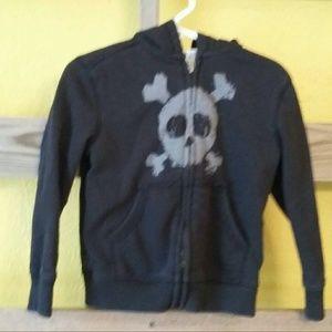 😁Amy Coe child's zippered black hoodie-sz 3T