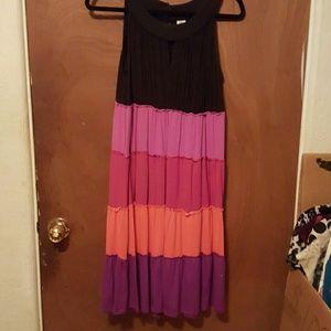 sangria Dresses & Skirts - Sangria , multi-colored dress knit material