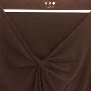 Three Dots Tops - 🆕🌺Three dots  black fine cotton top _cleavage??