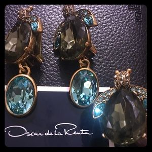 Rare⭐️Oscar de la Renta Jeweled Ring & Earring Set